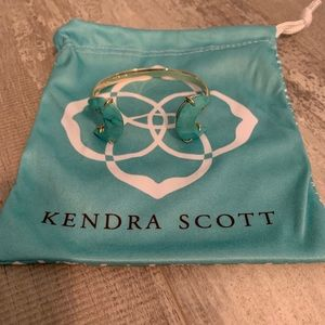 Kendra Scott turquoise and gold cuff